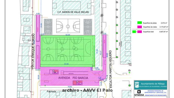 Lee más sobre el artículo Más de 200 personas se interesan por comprar una plaza en el parking proyectado bajo el colegio Valle Inclán de Málaga